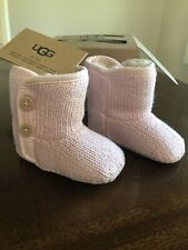 NEW INFANT BABY SIZE S 2/3 UGG PURL SHEEPSKIN BOOTIES BOOTS PINK 1005197I