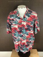 HILO HATTIE HAWAIIAN Original Mens Camp Shirt Short Sleeve Size XL Aloha Sunset