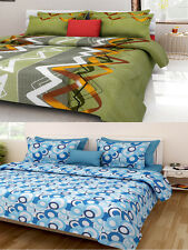 Homefab India Combo of 2 Cotton Double Bed Sheet (Combo785)