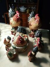 Fitz and floyd rooster figurines with Original Boxes
