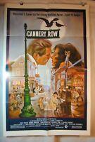 Movie Poster CANNERY ROW 1982 Original 27x40 Folded NICK NOLTE DEBRA WINGER