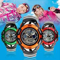 Skmei Luxury Kids Boys Girls LED Sports Quartz Watch For Diving Wrist Watch New