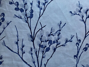"""11x16"""" Cushion Cover in Laura Ashley Pussy Willow Midnight Blue/Austen"""