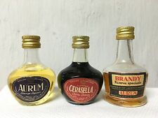 Lotto 3 Bottiglie Mignon Aurum Orange Liquore Cerasella Cherry Brandy Riserva S.