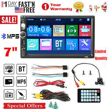 """7"""" Stereo Bluetooth Car MP5 Player Radio 1080P Touch Screen FM/AUX/USB/TF+Camera"""