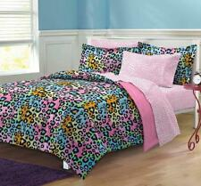 My Room Neon Leopard Ultra Soft Microfiber Girls Comforter Set,.