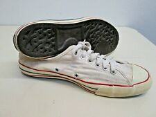 Vintage 1960's Sears Basketball Sneakers shoe White tennis USA made Converse 9.5