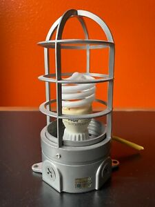 INDUSTRIAL Cage Light Outdoor Wall Sconce Porch Patio Exterior Lamp Fixture In