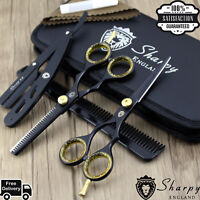 Black Professional Dog Cat grooming scissor Pet grooming scissors pets shears UK