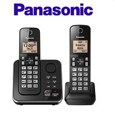 Panasonic KX-TGC362B Cordless 2 Handset Landline Telephone w/ Answering Machine