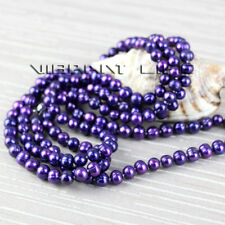 "50"" 6-8mm Dark Purple Freshwater Pearl Strand Necklace Fashion Jewelry U"
