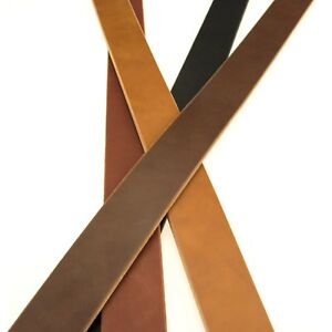 Harness / Bridle Full Grain Leather Straps BLACK & BROWN Strips, Top Quality