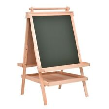 All in One Kid Double Side Wooden Art Easel Painting Drawing Board w/ Paper Roll