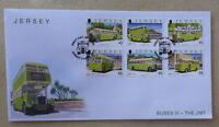 2013 JERSEY BUSES III THE J.M.T. SET OF 6 STAMPS FDC FIRST DAY COVER