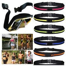 Men Womens Running Bum Bag Travel Handy Sport Fanny Pack Waist Belt Zip Pouch