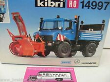 1/87 Kibri 14997 MB Unimog m Schmidt Seitenschneefräse