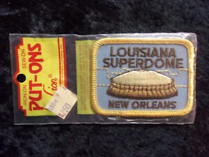 Vintage 1970's Put-Ons Louisiana Superdome New Orleans Embroidered Patch NIP