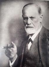 1920's Sigmund Freud Signature in Original Lithograph Print by Franz Hanfsaengel