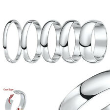 Palladium Wedding Ring (950) Heavy Court Shaped Band