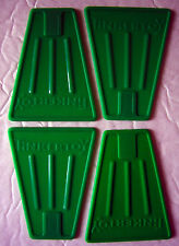 Plastic Tinker Toys Part Lot: 4 Green Flags Replacement Fin Pieces Jumbo Sets