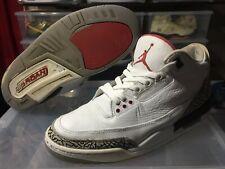 Nike Air Jordan 3 Retro (2011) White Cement BEATERS - Men's Size 9.5