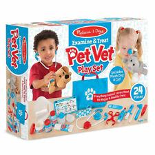 Melissa & Doug Pet Vet Examine and Treat Kids Playset Cat & Dog