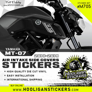 2019 Yamaha MT-07 air intake side cover sticker set [M705]