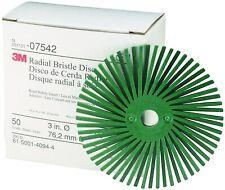 "3M Radial Bristle Discs Scotch-Briteâ""¢ 3"" Green 50 Grit 10 Discs Coarse Grade"