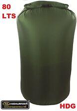 BRITISH ARMY OG 100% WATERPROOF 80L DRY BAG SACK-RUCKSACK LINER BERGEN SAS CADET