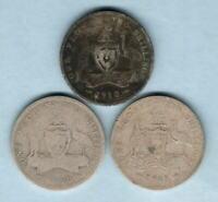 Australia - Florins : 1910,1911 & 1913..   Good/Worn  (3 coins)