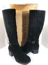 Koolaburra By Uggs Madeley Women's Sz 10.5 Black Suede Tall Fashion Boots X1-426