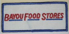 "Bayou Food Stores Patch - Louisiana - 4 1/2"" x 2""  - delivery truck driver patch"