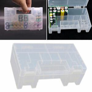 1pc Hard Box Organiser Battery Storage Case portable Plastic AA and AAA Holder