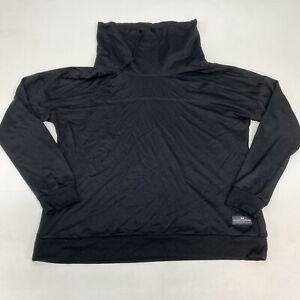Simply Southern High Neck Sweatshirt Womens Large Long Sleeve Black Cotton Blend
