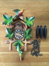 Vintage Hubert Herr Black Forest Cuckoo Clock Triberg Germany Two Cuckoos