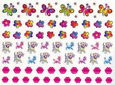 Colorful Happy Birthday with butterfly, flower, dog, lip, ladybug,162 Stickers