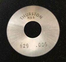 Thurston 2-1//4 x 0.016 x 5//8 60T Slitting Slotting Saw