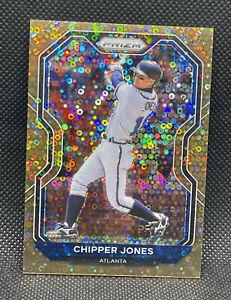 2021 Panini Prizm Chipper Jones BRONZE Donut Circles Parallel /40 Atlanta Braves