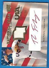 2008 Upper Deck USA National Team Jerseys Autographs Red #RF Ryan Flaherty 35/50