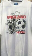 ENGLAND TEE SHIRT IN WHITE FROM METAPHOR 2XL3XL4XL5XL6XL7XL8XL