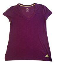 Adidas Womens Short Sleeve Yoga/running Slub Knit Top S