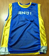 AND 1 basketball reversible jersey polyester youth med embroidery slam-dunk