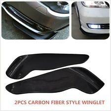 2XWinglet Type Style Carbon Fiber Front Bumper Lip Diffuser Splitter Canard-2610
