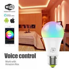 Smart WiFi Light Bulb 7W RGB Magic Light Bulb Lamp Wake-Up Lights US