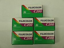 5 ROLLS FRESH FUJI  Fujifilm FUJICOLOR C200 35mm Color Negative Film 36 EXP 8/19