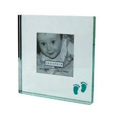 Spaceform Mirror Glass Baby Feet Blue Photo Frame Baby Shower Gift Keepsake Idea