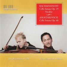 Rachmaninoff & Shostakovich  - Cello sonatas (Johnson/Asuncion) CD