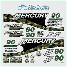 MERCURY 90 HP Stickers Outboadrs Motor Camouflage Laminated Decals Boat Kit
