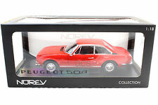 NOREV 1971 PEUGEOT 504 COUPE RED 1/18 DIECAST CAR