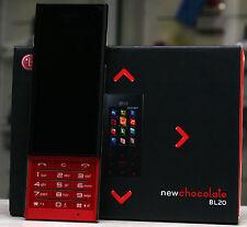 LG BL20 New Chocolate Schwarz Rot Tasten Handy Slider 5mp Neu vom Händler BL 20
